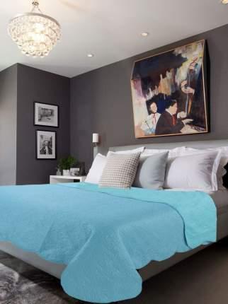 Покрывало Amore Mio Термостежка однотонная Aquamarine Микрофибра 1,5 спальное