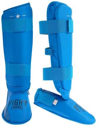 Защита голень+стопа FIGHT EMPIRE, размер L, цвет синий FIGHT EMPIRE