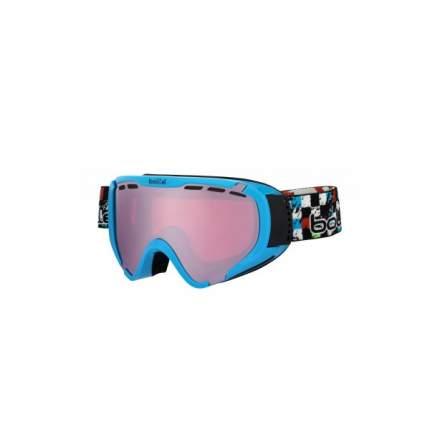 Горнолыжная маска Bolle Explorer 2016 shiny blue checker/vermillon gun S