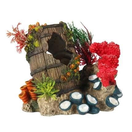 Декорация для аквариума AQUA DELLA Sunken Artefact 2, полиэфирная смола, 11,6х15,7х15,3 см