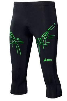 Тайтсы Asics Stripe Knee Tight, black/green, S