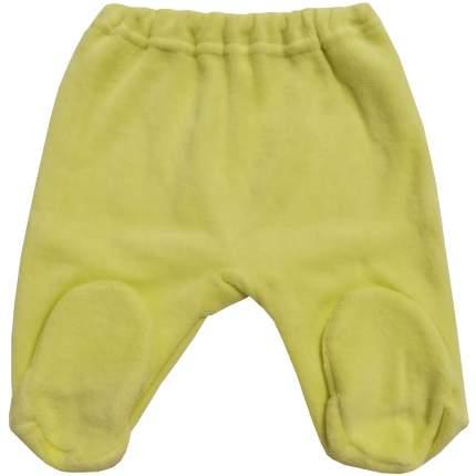 Ползунки Папитто велюр на резинке желтый, размер 80