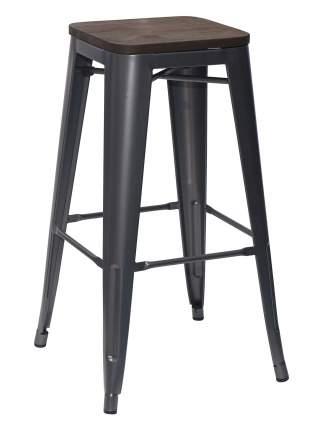 Барный стул STOOL GROUP Толикс Серебристый матовый / темное дерево