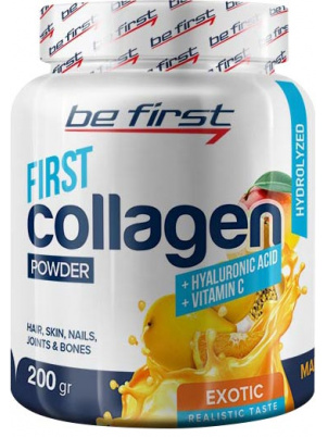 Be First Collagen + Hyaluronic acid + Vitamin C 200g (200 г), Малина