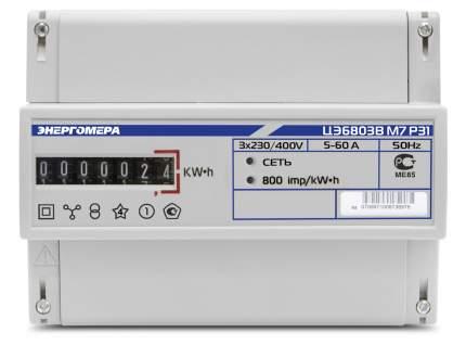 Счетчик электроэнергии Энергомера Цэ6803В Р31 Счетчик Эл/Эн 3Ф 1Т 220В 5(60)А 6-Ти