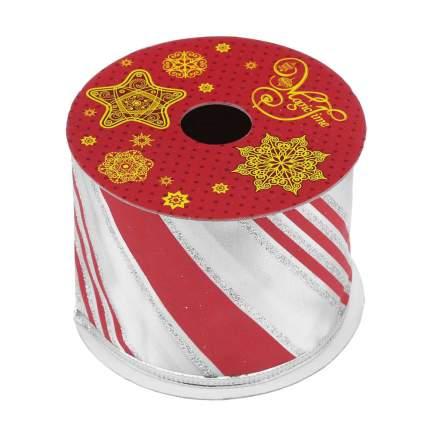 Лента декоративная Феникс Present Красные линии 6,3x270 см