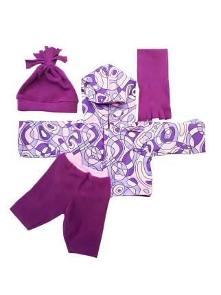 Комплект теплый из 4-х предметов для куклы Колибри 91 Фиолетовый,розовый