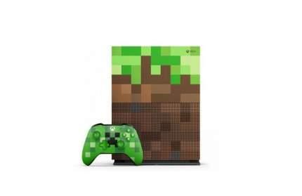 Игровая приставка Microsoft Xbox One S 1Tb Minecraft Green (23C-00012)