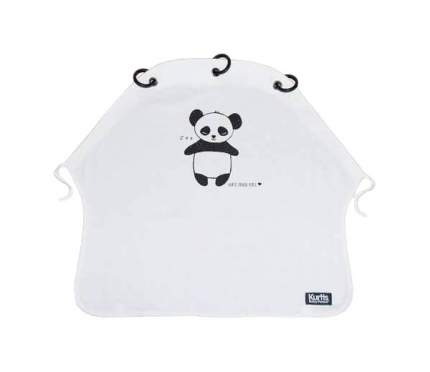 Накидка защитная на коляску и автокресло Pram Curtain Panda B&W