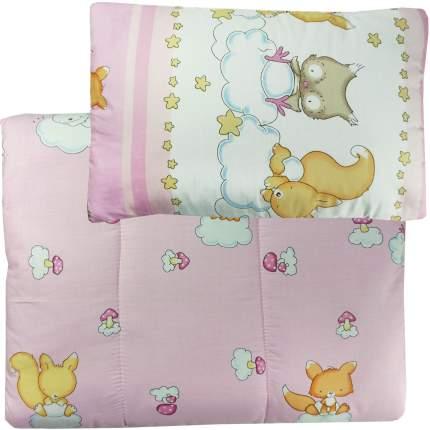 Набор Папитто одеяло + подушка Розовый 1111