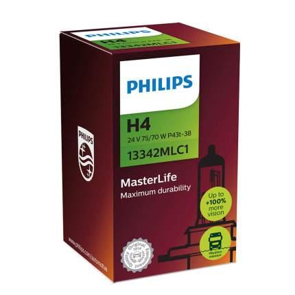 Лампа Галогенная Для Грузовых Автомобилей H4 24v 75/70w P43t-38 Masterlife Philips