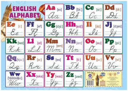 """Учебный плакат """"Английский алфавит"""": Формат А2"""