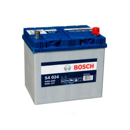 Аккумуляторная Батарея S4 Silver  Asia [12v 60ah 540a B00] Bosch