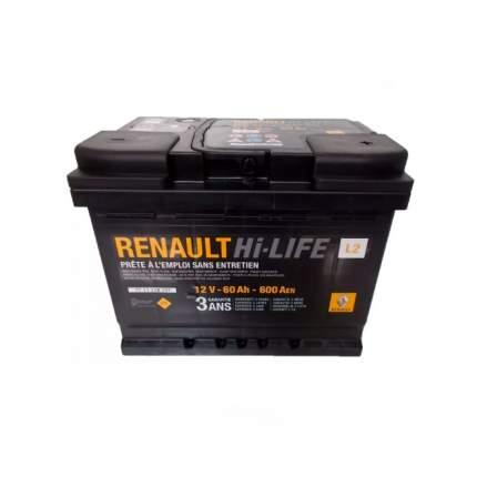 Ren7711238597_аккумуляторная Батарея! L2 60ah/600a RENAULT