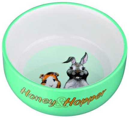 Одинарная миска для грызунов TRIXIE Honey & Hopper, керамика, разноцветный, 0.25 л