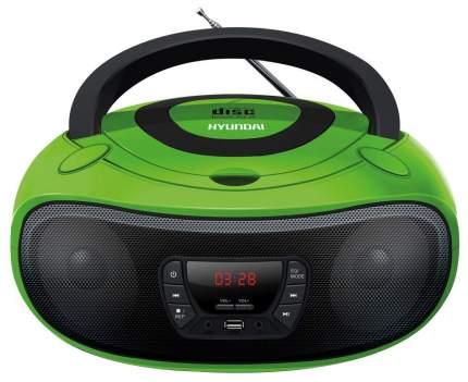 Магнитола Hyundai H-PCD260 Зеленый/Черный