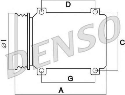 Компрессор кондиционера Denso DCP50301