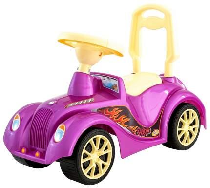 Машина-каталка Орион Ретро ОР900 с клаксоном Розовый
