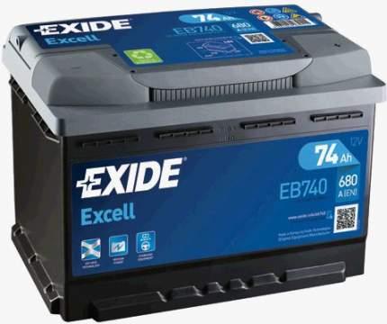 Аккумулятор автомобильный EXIDE EB740 74 Ач