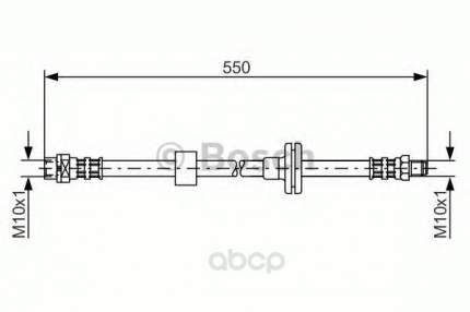 Шланг тормозной системы Bosch 1987481056 передний левый/правый