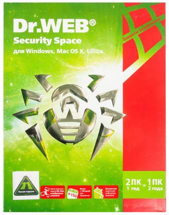 Антивирус Dr.Web Security Space BHW-B-12M-2-A3