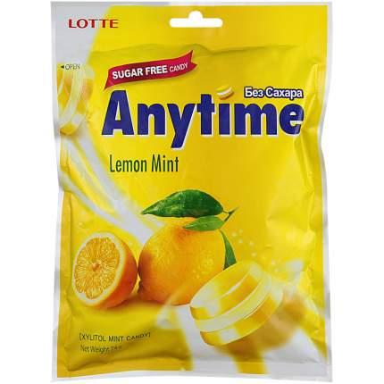 Карамель леденцовая anytime Lotte лимон и мята 74 г