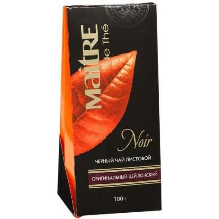 Чай черный Maitre листовой оригинальный цейлонский 100 г