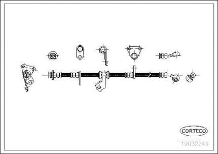 Шланг тормозной CORTECO 19032249