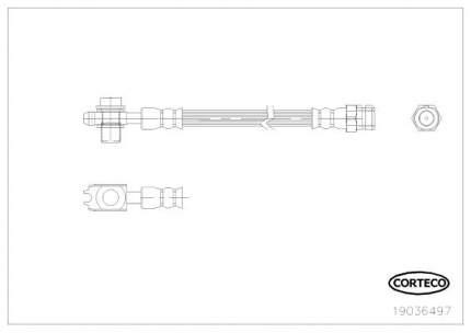 Шланг тормозной системы CORTECO 19036497