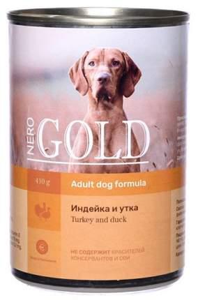 Консервы для собак NERO GOLD, индейка, утка, 410г