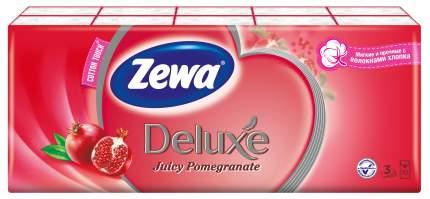 Носовые Платки Zewa Deluxe Гранат, 3 слоя, 10шт.Х 10