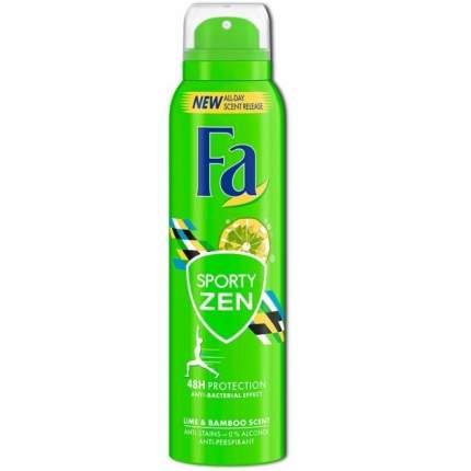 """Дезодорант для женщин Fa """"Sporty Zen"""" аэрозоль, с ароматом лайма и бамбука"""