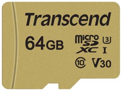 Карта памяти Transcend Micro SD TS64GUSD500S 64GB