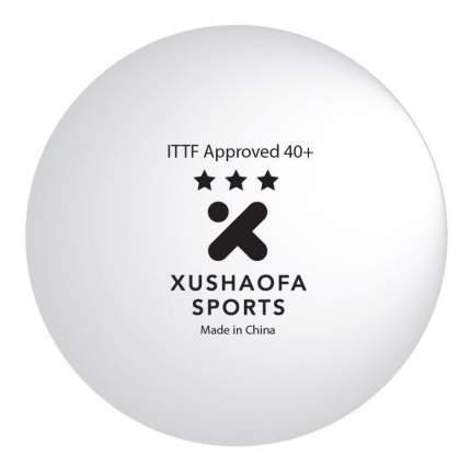 Мячи для настольного тенниса Xushaofa 3* 40+ белые, 6 шт.