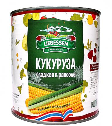 Кукуруза Liebessen сахарная в зернах гост 425 мл