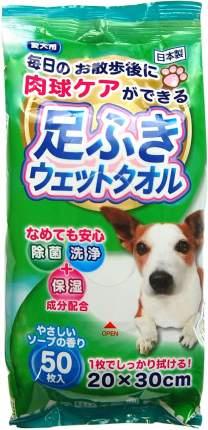 Салфетки Premium Pet Japan антибактериальные для защиты лап животных (50 шт)