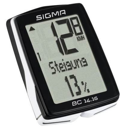 Велокомпьютер Sigma BC 14.16 черно-белый