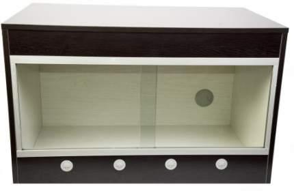 Террариум LUCKY REPTILE Стартовый комплект для Эублефаров деревянный, черный, 80x50x50 см