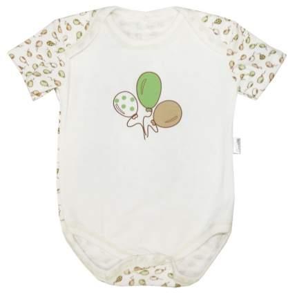 Боди Папитто капелька Воздушные шарики зеленый/экрю р.20-62 И430-03
