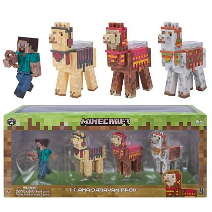 Набор фигурок Minecraft Steve with Llama caravan 8см