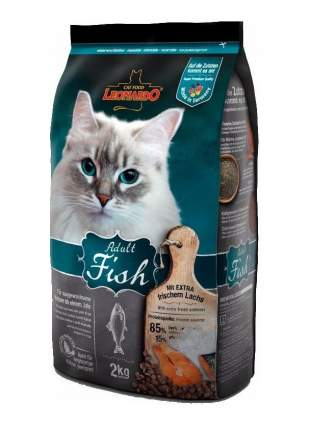 Сухой корм для кошек Leonardo Adult Fish, рыба, 2кг