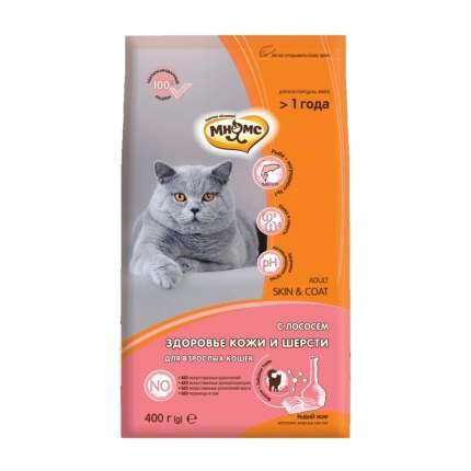 Сухой корм для кошек Мнямс Skin & Coat, для кожи и шерсти, лосось, 0,4кг