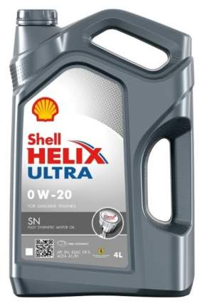 Моторное масло Shell Helix Ultra SN 0W-20 4л
