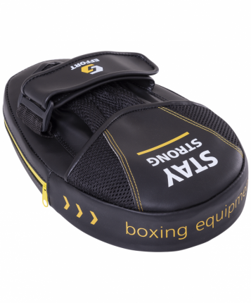 Лапа Effort E 602-2 боксерская, кожзам, черный