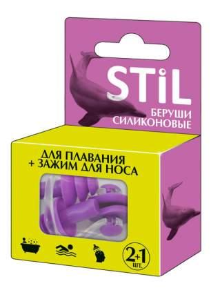 Беруши STIL силиконовые для плавания + зажим для носа, 2+1 шт.