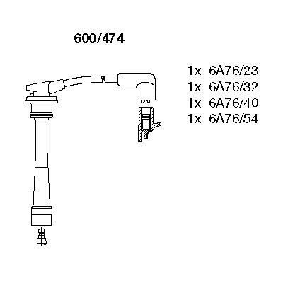 Комплект проводов зажигания BREMI 600/474