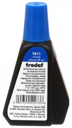 Штемпельная краска Trodat 7011. Объем: 28 мл. Цвет: синий.