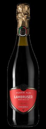 Шипучее вино Lambrusco dell'Emilia Rosso Poderi Alti, Chiarli-1860
