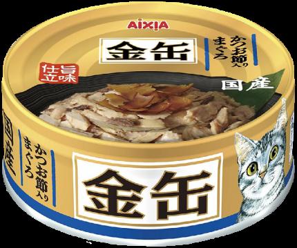 Консервы для кошек AIXIA «Kin-Can», тунец и сушеный бонито в бульоне 70г