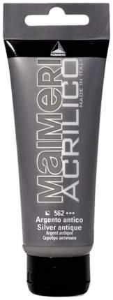 Акриловая краска Maimeri Acrilico M0924562 серебро античное 200 мл